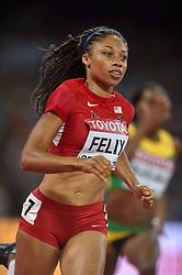 25-08-2015 CHN: IAAF World Championships Athletics day 4, Beijing<br /> Allyson Felix USA<br /> Photo by Ronald Hoogendoorn / Sportida