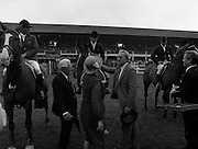 "07/08/1980<br /> 08/07/1980<br /> 07 August 1980<br /> R.D.S. Horse Show: John Player International, Ballsbridge, Dublin.  Malcolm Pyrah (Great Britain) on Towerlands Anglezarke won the John Player sponsored competition. Picture shows Pamela Dunning (Great Britain) on ""Roscoe X"" receiving the prize for 2nd place."
