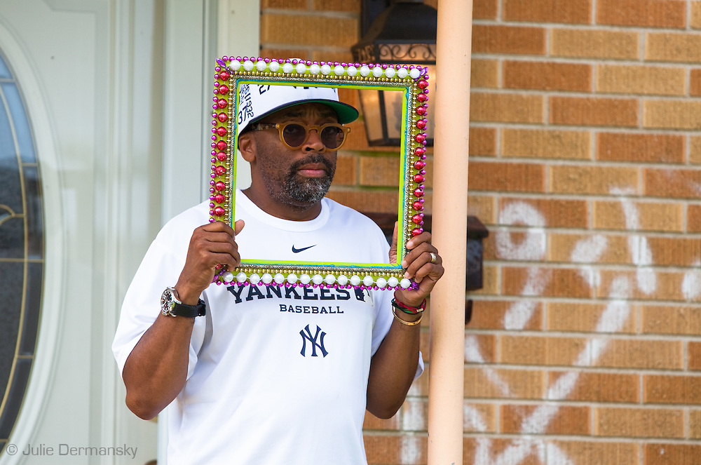Spike Lee on location filming a new movie in New Orleans on May, 31, 2010.