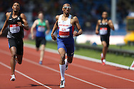 Matthew Hudson-Smith competing in the Men's 400m Semi-Final race. The British Championships 2016, athletics event at the Alexander Stadium in Birmingham, Midlands  on Saturday 25th June 2016.<br /> pic by John Patrick Fletcher, Andrew Orchard sports photography.
