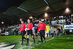 Players entering the pitch before football match between NŠ Mura and NK Bravo in 20th Round of Prva liga Telekom Slovenije 2019/20, on December 5, 2019 in Fazanerija, Murska Sobota, Slovenia. Photo by Blaž Weindorfer / Sportida