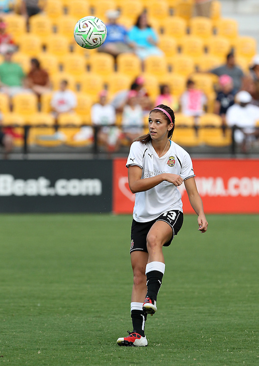 ATLANTA, GA - AUGUST 06:  Forward Alex Morgan #13 of the Western New York Flash warms up before the Women's Professional Soccer game between the Atlanta Beat and the Western New York Flash at Kennesaw State University Soccer Stadium on August 6, 2011 in Atlanta, Georgia.  (Photo by Mike Zarrilli/Getty Images)
