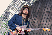 Sean Lennon, The GOASTT, The Ghost of a Saber Tooth Tiger, live in concert, at the Nelsonville Music Festival, May 14, 2011 photo by best music photographer Mara Robinson