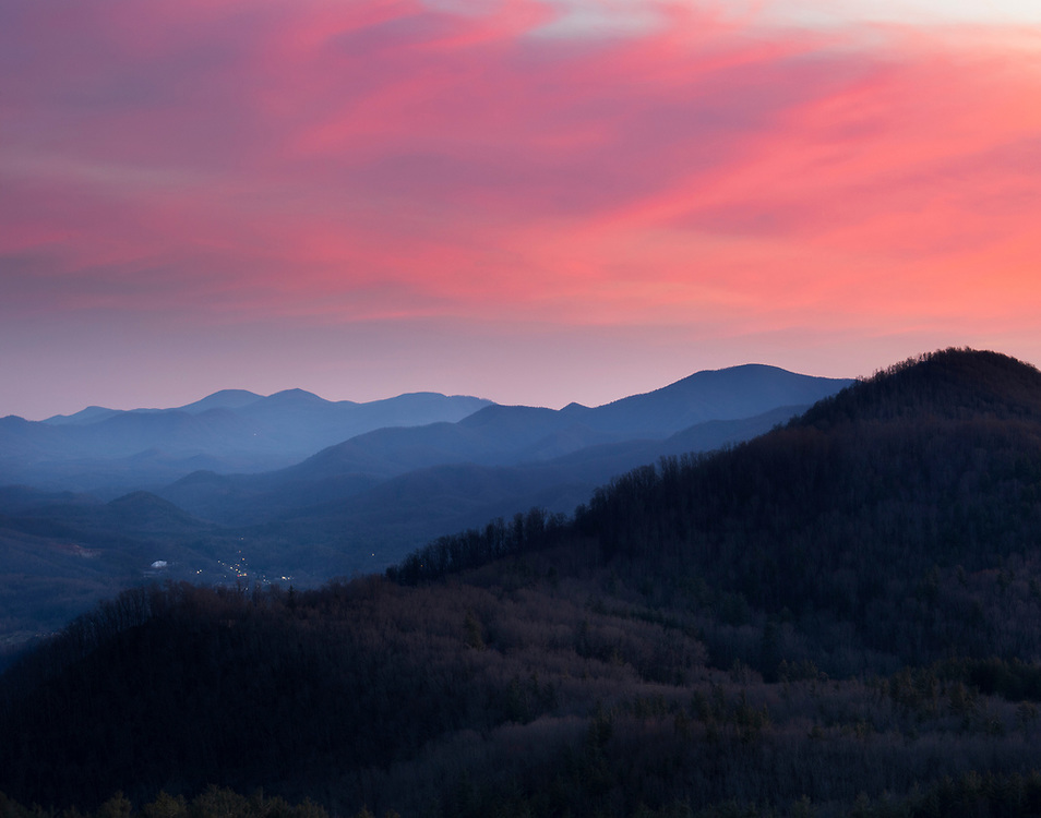 """Bear Den Overlook Sunset<br /> <br /> Available sizes:<br /> 11"""" x 14"""" print <br /> <br /> See Pricing page for details. <br /> <br /> Please contact me for custom sizes and print options including canvas wraps, metal prints, assorted paper options, etc. <br /> <br /> I enjoy working with buyers to help them with all their home and commercial wall art needs."""