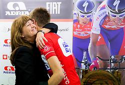 Mojca Novak of KK Adria Mobil and Tomaz Nose, rider of KK Adria Mobil when he retires as a professional cycling athlete, on November 6, 2014 in Cesca vas, Novo mesto. Foto: Vid Ponikvar / Sportida