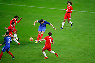 Olivier Giroud (FRA) scored the second goal, James Chester (WAL), Joe Allen (WAL), Nabil Fakir (FRA), Ethan Ampadu (WAL) during the 2017 Friendly Game football match between France and Wales on November 10, 2017 at Stade de France in Saint-Denis, France - Photo Stephane Allaman / ProSportsImages / DPPI