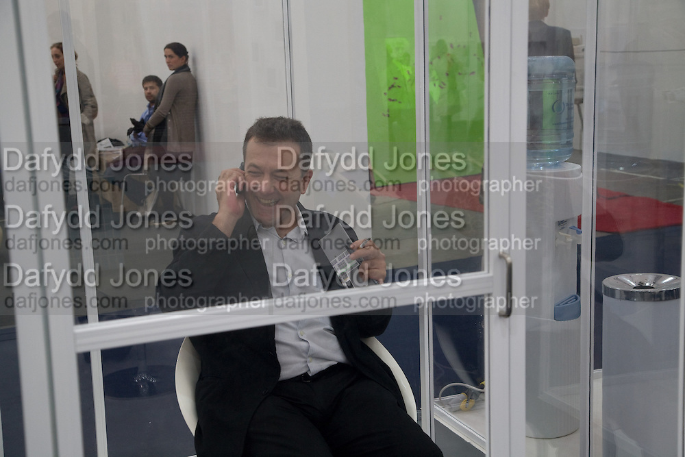 SMOKING ROOM; VICENTE TODOLI;Frieze Art Fair 2008. Regent's Park. London. 15 October 2008 *** Local Caption *** -DO NOT ARCHIVE -Copyright Photograph by Dafydd Jones. 248 Clapham Rd. London SW9 0PZ. Tel 0207 820 0771. www.dafjones.com