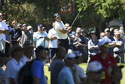June 21, 2018 - Cromwell, CT, USA - U.S. Open champion Brooks Koepka watches his tee shot on the fifth hole during the first round of the Travelers Championship on Thursday, June 21, 2018 at TPC River Highlands in Cromwell, Conn. Koepka started out hot, but slipped down the stretch and finished at -2. (Credit Image: © John Woike/TNS via ZUMA Wire)