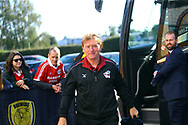 Scunthorpe United Manager Stuart McCall arrives at the Pirelli Stadium during the EFL Sky Bet League 1 match between Burton Albion and Scunthorpe United at the Pirelli Stadium, Burton upon Trent, England on 29 September 2018.
