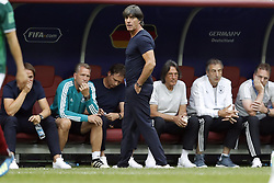 coach Joachim Low of Germany during the 2018 FIFA World Cup Russia group F match between Germany and Mexico at the Luzhniki Stadium on June 17, 2018 in Moscow, Russia