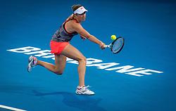 December 31, 2018 - Brisbane, AUSTRALIA - Elise Mertens of Belgium in action during her first-round match at the 2019 Brisbane International WTA Premier tennis tournament (Credit Image: © AFP7 via ZUMA Wire)