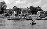 Henley On Thames. Oxfordshire/ Berkshire. United Kingdom. The Henley Royal Regatta, Press box  under construction. 27/17.05.2017. General View, River Thames. <br /> <br /> <br /> [Mandatory Credit Peter SPURRIER/Intersport Images]