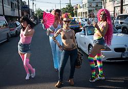 Gay pride march in Tijuana, Mexico.