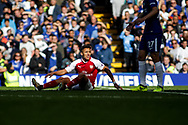 Alexis Sanchez of Arsenal reacts. Premier league match, Chelsea v Arsenal at Stamford Bridge in London on Sunday 17th September 2017.<br /> pic by Kieran Clarke, Andrew Orchard sports photography.