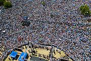 20191130/ Nicolas Celaya - adhocFOTOS/ URUGUAY/ MONTEVIDEO/ KIBON/ Acto de Luis Lacalle Pou como presidente electo en Kibon. Foto: Nicolás Celaya /adhocFOTOS