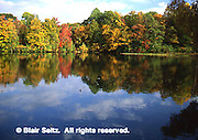 Lake, Fall Foliage reflections, Promised Land State Park, Pike Co., NE PA
