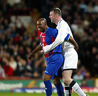 Photo: Chris Ratcliffe.<br /> Geoff Thomas Charity Event. Crystal Palace v Manchester United. 06/04/2006.<br /> Ian Wright is grabbed by Gary Pallister during the game