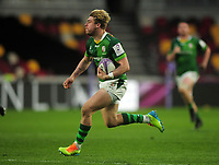 Rugby Union - 2020 / 2021 European Rugby Challenge Cup - Round of 16 - London Irish vs Cardiff - Brentford Community Stadium<br /> <br /> Hallam Amos of London Irish<br /> <br /> Credit  COLORSPORT/ANDREW COWIE
