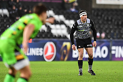 Ospreys' Kieron Fonotia in action during todays match<br /> <br /> Photographer Craig Thomas/Replay Images<br /> <br /> EPCR Champions Cup Round 4 - Ospreys v Northampton Saints - Sunday 17th December 2017 - Parc y Scarlets - Llanelli<br /> <br /> World Copyright © 2017 Replay Images. All rights reserved. info@replayimages.co.uk - www.replayimages.co.uk