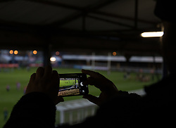 A general view of The Brewery Field, home of Bridgend Ravens<br /> <br /> Photographer Simon King/Replay Images<br /> <br /> Guinness PRO14 Round 7 - Ospreys v Connacht - Friday 26th October 2018 - The Brewery Field - Bridgend<br /> <br /> World Copyright © Replay Images . All rights reserved. info@replayimages.co.uk - http://replayimages.co.uk