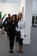 SANDRA SORIANO; PRINCESS ALIA AL-SENUSSI, The VIP preview of Frieze. Regent's Park. London. 16 October 2013