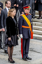 Crown Grand Duke Guillaume of Luxembourg and Crown Grand Duchess Stephanie of Luxembourg at the funeral of Grand Duke Jean of Luxembourg at Cathedral Notre-Dame of Luxembourg in Luxembourg City, Luxembourg on May 4, 2019. Grand Duke Jean of Luxembourg has died at 98, April 23, 2019. Photo by Robin Utrecht/ABACAPRESS.COM