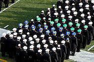 """6 Dec 2008: Navy Midshipman wear """"Go Army, Beat Navy"""" hats on the field before the Army / Navy game December 6th, 2008. At Lincoln Financial Field in Philadelphia, Pennsylvania."""