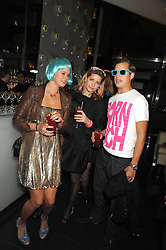 Left to right, ELEANOR BALFOUR, DAISY DENNIS and GEORGE ASKEW at Tallulah Rufus-Isaac's 21st birthday party held at The Kingley Club, 4 Upper St Martin's Lane, London on 24th September 2008.