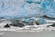 Hubbard Glacier  floating ice In The Wrangell St Elias National Park,
