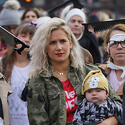 London, UK. 31st October 2017.  Anna Whitehouse March join the Mummies demonstrations across the UK organised by Pregnant Then Screwed on pregnancy and maternity discrimination.