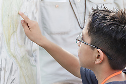 Children learning about birds, Mitchell Lake Audubon Center, San Antonio, Texas, USA.