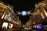 London chrismas lights 2020 during lockdown photo by Roger Alarcon