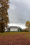 Autumn colours at Chateau de la Hulpe, near Brussels, Belgium.