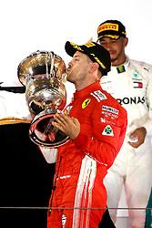 April 8, 2018 - Sakhir, Bahrain - Motorsports: FIA Formula One World Championship 2018, Grand Prix of Bahrain, , #5 Sebastian Vettel (GER, Scuderia Ferrari) (Credit Image: © Hoch Zwei via ZUMA Wire)
