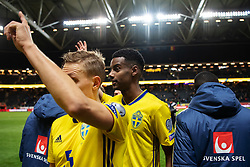 March 23, 2019 - Stockholm, SWEDEN - 190323 Alexander Isak of Sweden after the UEFA Euro Qualifier football match between Sweden and Romania on March 23, 2019 in Stockholm..Photo: Joel Marklund / BILDBYRÃ…N / kod JM / 87914 (Credit Image: © Joel Marklund/Bildbyran via ZUMA Press)