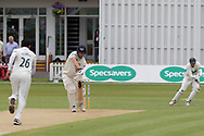 WICKET - Miles Hammond is caught behind off Muhammad Abbasring the Specsavers County Champ Div 2 match between Leicestershire County Cricket Club and Gloucestershire County Cricket Club at the Fischer County Ground, Grace Road, Leicester, United Kingdom on 18 June 2019.