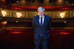 © licensed to London News Pictures. London, UK 10/04/2013. Mayor of London Boris Johnson visiting the Lyric Hammersmith as it's being transformed into an art and education centre after £1 million worth of funding given by the Mayor. Photo credit: Tolga Akmen/LNP