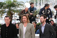 Brad Pitt, Ray Liotta, Scoot McNairy, at the Killing Them Softly photocall at the 65th Cannes Film Festival France. Tuesday 22nd May 2012 in Cannes Film Festival, France.