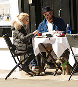 EXCLUSIVE<br /> <br /> Kylie Minogue looks relaxed in the company of her <br /> fiance, Joshua Sasse as they have lunch in London with there dog<br /> ©Exclusivepix Media