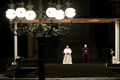 Pope Francis leads Good Friday Via Crucis empty St Peter's square 11 April 2020