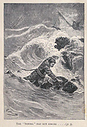 The Sonora had run ashore from the book ' Mistress Branican ' by Jules Verne, illustrated by Leon Benett. The story begins in the United States, where the heroine, Mistress Branican, suffers a mental breakdown after the death by drowning of her young son. On recovering, she learns that her husband, Captain Branican, has been reported lost at sea. Having acquired a fortune, she is able to launch an expedition to search for her husband, who she is convinced is still alive. She leads the expedition herself and trail leads her into the Australian hinterland. Mistress Branican (French: Mistress Branican, 1891) is an adventure novel written by Jules Verne and based on Colonel Peter Egerton Warburton and Ernest Giles accounts of their journeys across the Western Australian deserts, and inspired by the search launched by Lady Franklin when her husband Sir John Franklin was reported lost in the Northwest Passage. Translated by A. Estoclet, Published in New York, Cassell Pub. Co. 1891.