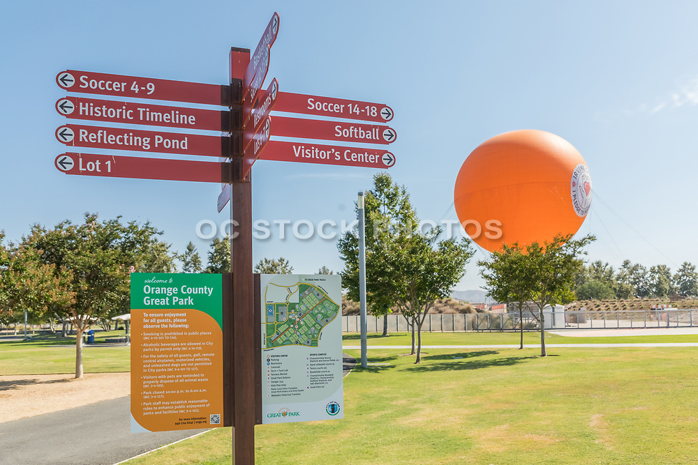 Informational and Directional Signs at OC Great Park