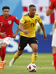 Youri Tielemans of Belgium during the 2018 FIFA World Cup Play-off for third place match between Belgium and England at the Saint Petersburg Stadium on June 26, 2018 in Saint Petersburg, Russia