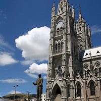 Americas, South America, Ecuador, Quito. The Basilica del Voto Nacional, construction began in 1892 and is still underway.
