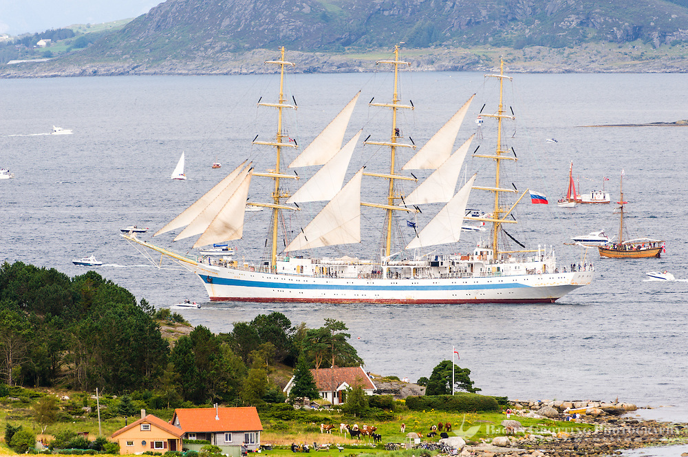 Norway, Randaberg. Tall Ships Race in Stavanger 2011. Goodbye, fare thee well! STS Mir.