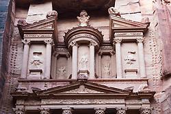 The Treasury (Al Khazneh), at Petra, Jordan, UNESCO World Heritage Site