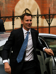 © Licensed to London News Pictures. 28/05/2012. London,Britain.Jeremy Hunt arrives at the Leveson Inquiry in the Royal Courts of Justice. Photo credit : Thomas Campean/LNP..