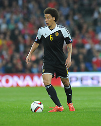 Axel Witsel of Belgium (Zenit Saint Petersburg) in action. - Photo mandatory by-line: Alex James/JMP - Mobile: 07966 386802 - 12/06/2015 - SPORT - Football - Cardiff - Cardiff City Stadium - Wales v Belgium - Euro 2016 qualifier