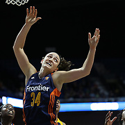 UNCASVILLE, CONNECTICUT- JUNE 5:  Kelly Faris #34 of the Connecticut Sun in action during the Indiana Fever Vs Connecticut Sun, WNBA regular season game at Mohegan Sun Arena on June 3, 2016 in Uncasville, Connecticut. (Photo by Tim Clayton/Corbis via Getty Images)