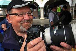 Photographer of Delo Ljubo Vukelic in Novo mesto in last 4th stage of the 15th Tour de Slovenie from Celje to Novo mesto (157 km), on June 14,2008, Slovenia. (Photo by Vid Ponikvar / Sportal Images)/ Sportida)